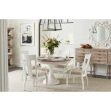 Stanley Juniper Dell 5pc Round Dining Set in White