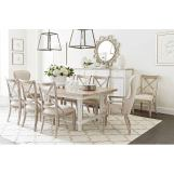 Stanley Juniper Dell 7pc Rectangular Dining Set in White