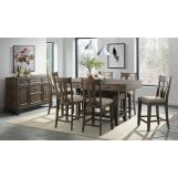 Intercon Furniture Whiskey River 7pc Counter Height Dining Room Set in Gunpowder Grey