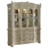 Meridian Madrid Hutch/Buffet in Rich Pearl White 702-HB