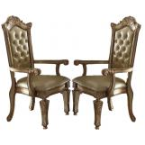 Acme Vendome Arm Chair (Set of 2) in Gold Patina 63004 PROMO