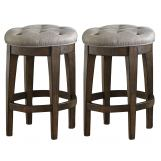 Liberty Furniture Arlington House Upholstered Backless Barstool in Cobblestone Brown (Set of 2) 411-B000124 EST SHIP TIME IS 4 WEEKS