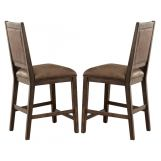 Liberty Furniture Stone Brook Upholstered Counter Chair in Rustic Saddle (Set of 2) 466-B650124