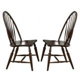Liberty Furniture Cabin Fever Windsor Back Side Chair in Bistro Brown Finish 121-C1000S (Set of 2)