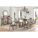 Acme Furniture Northville 7pc Rectangular Dining Set in Antique Champagne