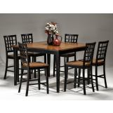 Intercon Furniture Arlington 7-Piece Gathering Table Set in Black and Java