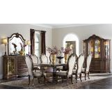 Aico Bella Veneto 7pc Rectangular Dining Set in Cognac