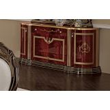 ESF Furniture Luxor 4-Door Buffet in Mahogany