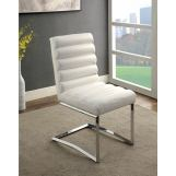 Furniture of America Livada I Side Chair in White (Set of 2) CM3170WH-SC-2PK