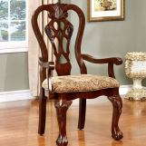 Furniture of America Elana Arm Chair in Brown Cherry (Set of 2) CM3212AC-2PK