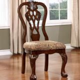 Furniture of America Elana Side Chair in Brown Cherry (Set of 2) CM3212SC-2PK