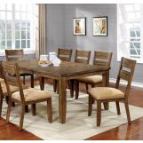 Furniture of America Ava Dining Table in Light Oak CM3287T