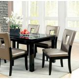 Furniture of America Evant I Dining Table in Black CM3320T
