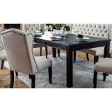 Furniture of America Sania I Dining Table in Antique Black CM3324BK-T-84