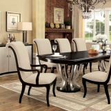 Furniture of America Ornette Dining Table in Espresso and Champagne CM3353T