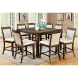 Furniture of America Forbes II 9pc Counter Height Dining Set in Gray