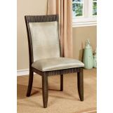 Furniture of America Forbes I Side Chair in Gray (Set of 2) CM3435SC-2PK