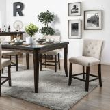 Furniture of America Schoten Counter Ht. Table in Antique Dark Oak CM3450PT