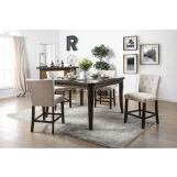 Furniture of America Schoten 5pc Dining Set in Antique Dark Oak