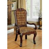 Furniture of America Medieve Arm Chair in Cherry (Set of 2) CM3557CH-AC-2PK
