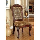 Furniture of America Medieve Side Chair in Cherry (Set of 2) CM3557CH-SC-2PK
