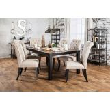 Furniture of America Marshall 7pc Dining Table in Rustic Oak
