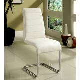 Furniture of America Mauna Side Chair in White (Set of 2) CM8371WH-SC-2PK