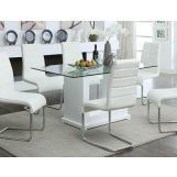 Furniture of America Eva Dining Table in White CM3917T
