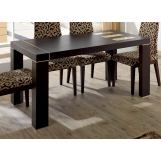 "ESF Furniture Irene Dining Table w/ 26"" Extension in Fume Beige"