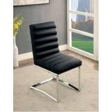 Furniture of America Livada I Side Chair in Black (Set of 2) CM3170BK-SC-2PK