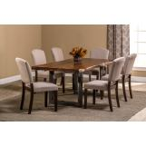 Hillsdale Furniture Emerson 7pc Rectangular Dining Room Set in Natural Sheesham