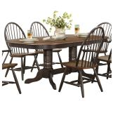 Homelegance Cline Double Pedestal Dining Table in Brown 5530-78*