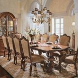 Universal Furniture Villa Cortina Double Pedestal Rectangular Dining Set CODE:UNIV20 for 20% Off