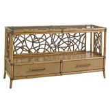 Tommy Bahama Home Twin Palms Sonesta Serving Console in Medium Umber 558-869
