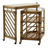 Tommy Bahama Home Twin Palms Cable Beach Bar Cart in Medium Umber 01-0558-862