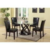 Acme Furniture Gable 5pc Round Dining Set in Espresso