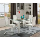 Acme Furniture Gordie 5pc Rectangular Leg Dining Set in White