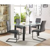 Acme Furniture Gordie 5pc Rectangular Leg Dining Set in Black