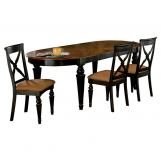 Hillsdale Northern Heights Oval Dining Table in Black/ Honey 4439-816W