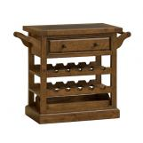 Hillsdale Tuscan Retreat™ Drink Trolley Cart with Granite Top and Casters in Antique Pine 5225-892W