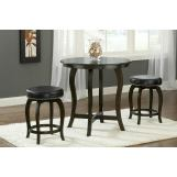 Hillsdale Wilmington 3 Piece Round Counter Height Dining Set in Cappuccino