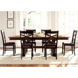 Liberty Furniture Bistro 7 Piece Trestle Dining Set in Honey/Espresso