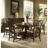 Fine Furniture Hyde Park 7 Piece Round Dining Set in Saint James