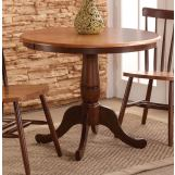 "John Thomas Furniture Dining Essentials 36"" Round Table in Cinnamon/Espresso T58-36RT-30P"