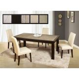 Global Furniture Marble Stone Top D040DT-DG020DC 7-Piece Dining Room Set