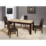 Global Furniture Marble Stone Top D042DT-DG020DC 7-Piece Dining Room Set