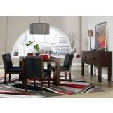 Standard Furniture Couture Elegance 6-Piece Square Dining Set in Dark Chocolate