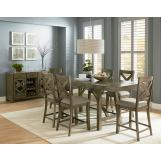 Standard Furniture Omaha 7-Piece Counter Height Table Set in Grey