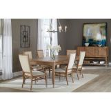 Hekman Avery Park 7-Piece Rectangular Dining Set in Light Brown