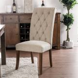 Furniture of America Sania III Side Chair in Beige (Set of 2) CM3564A-SC-2PK